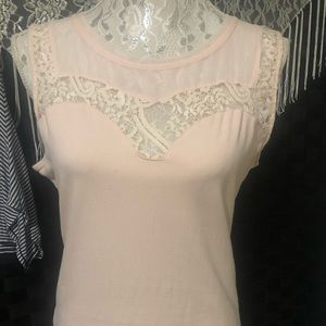 H&M Sleeveless Top w/ Lace
